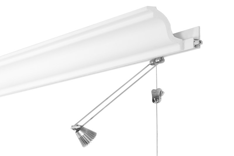 Stas Multirail Crown Picture Hanging System With Lighting