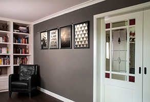 STAS picture hanging system living room
