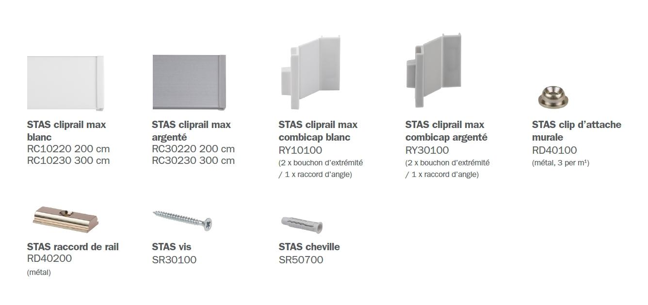 STAS cliprail max éléments