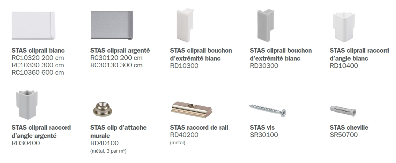 STAS cliprail