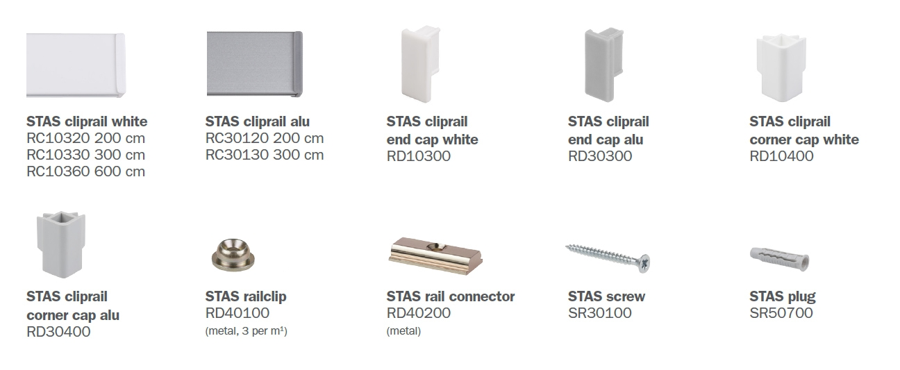 STAS cliprail parts
