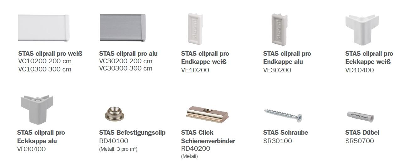 STAS Cliprail Pro Unterteile