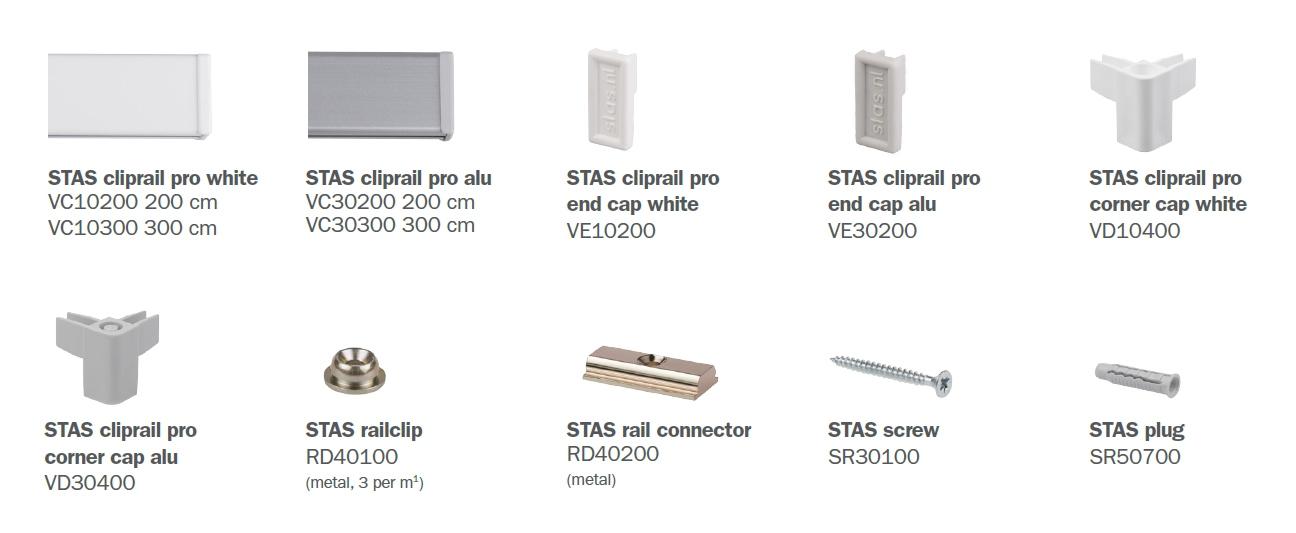 STAS cliprail pro parts