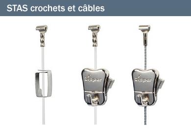 STAS crochets et câbles