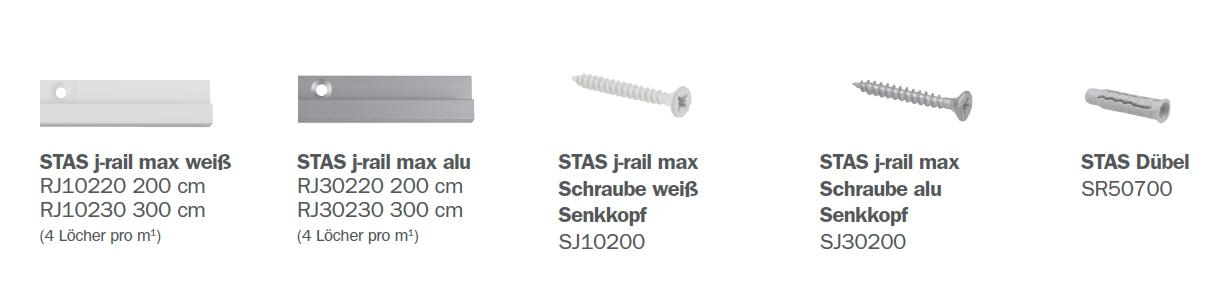 STAS J-Rail Max Teile