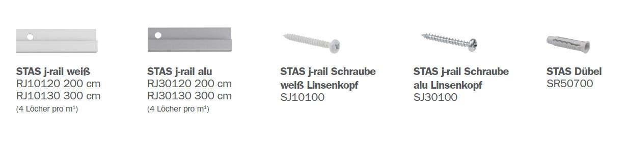 STAS J-rail Teile