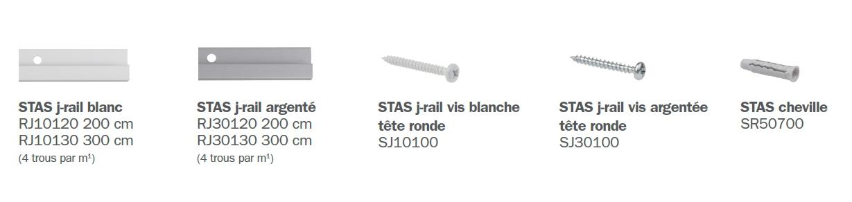 STAS j-rail éléments
