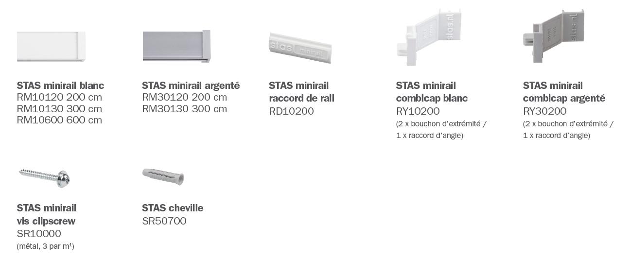 STAS minirail éléments