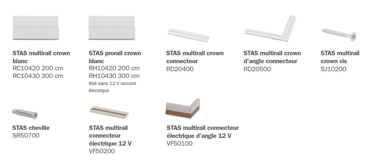 STAS multirail crown éléments