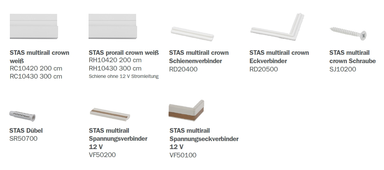 STAS Multirail Crown Teile