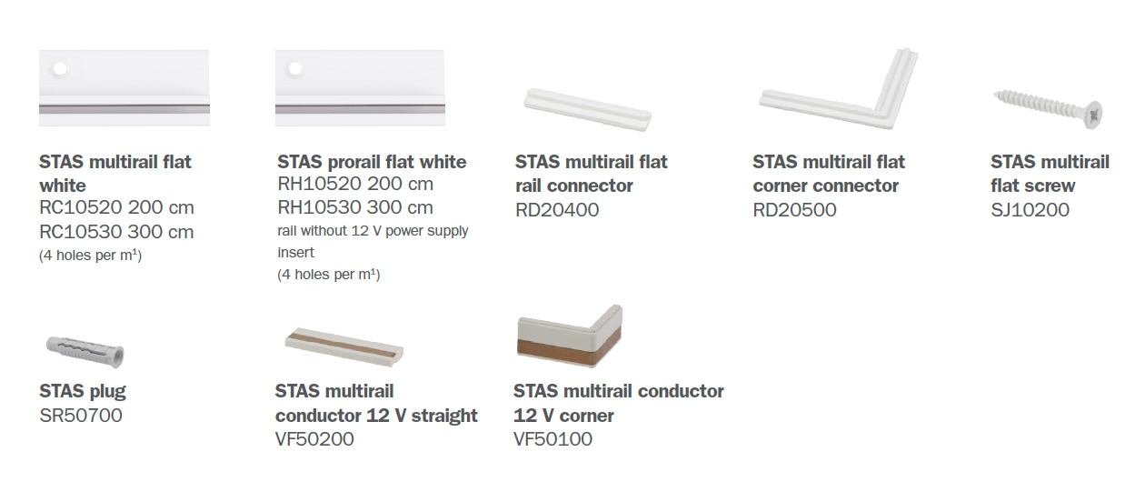 STAS multirail flat parts