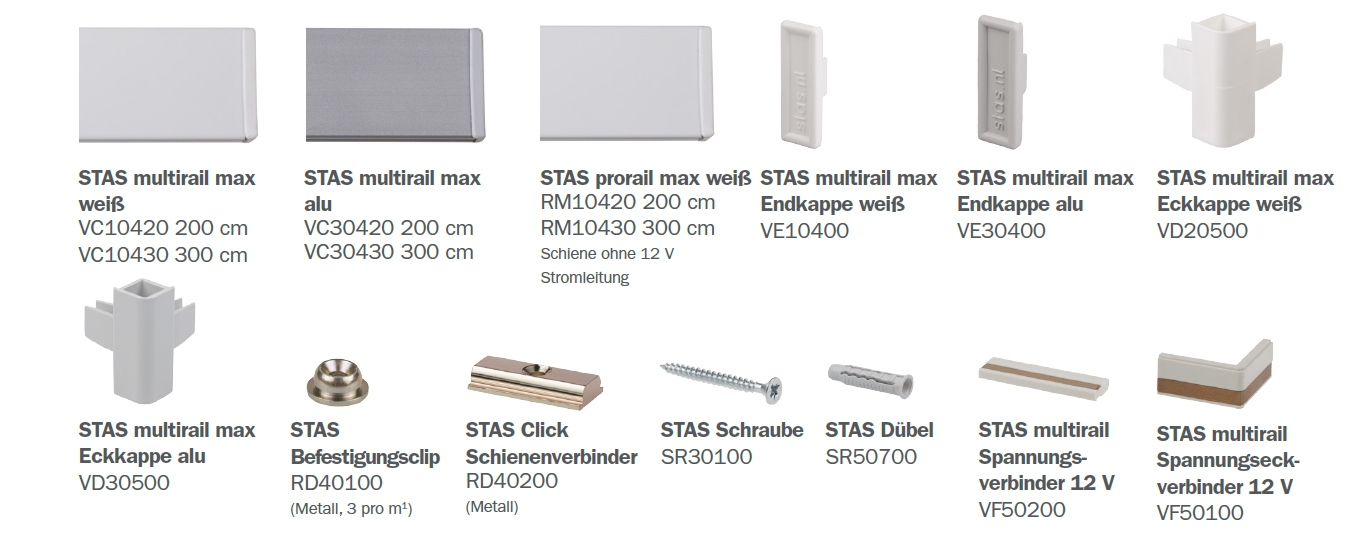 STAS Multirail Max Teile