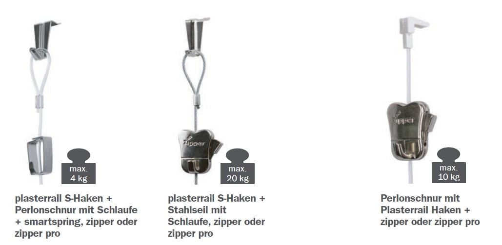 STAS Plasterrail Haken und Seile