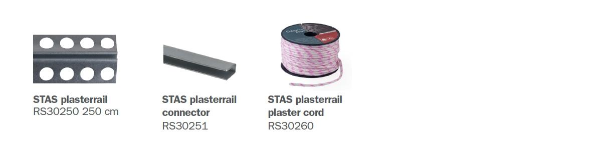 STAS plasterrail parts