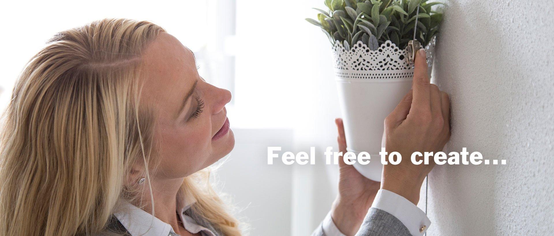 Hänge eine Pflanze auf