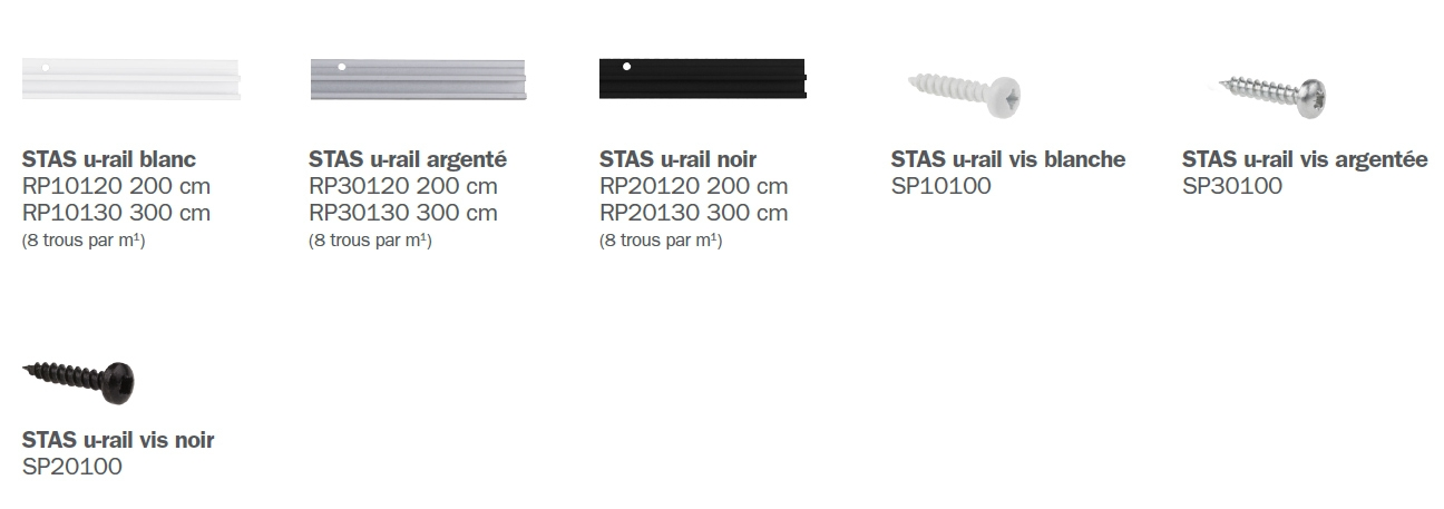 STAS u-rail éléments